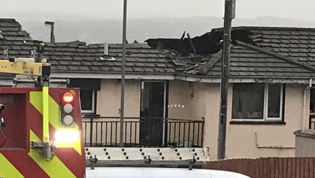 Roof of flat destroyed in Derry fire