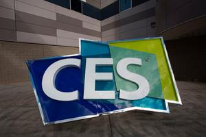 Signage is seen on the eve of opening day for  the  2017 Consumer  Electronics Show (CES) at the Las Vegas Convention Center in Las Vegas, Nevada, on January 4, 2017. / AFP PHOTO / DAVID MCNEWDAVID MCNEW/AFP/Getty Images