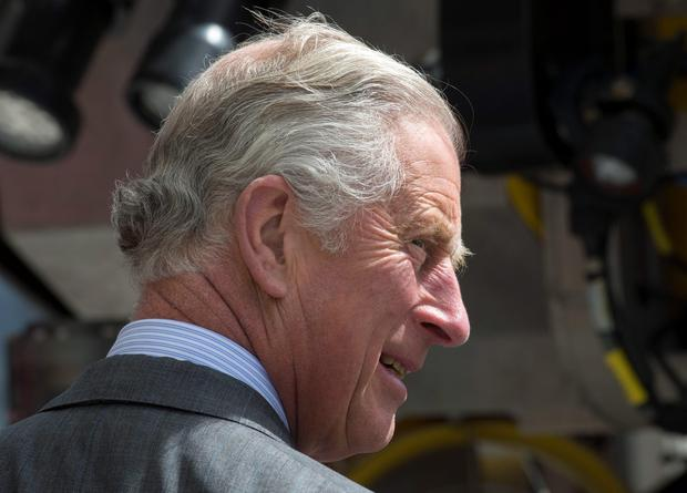 The Prince of Wales at the Marine Institute in Galway, on day one of a four day visit to Ireland with the Duchess of Cornwall. PRESS ASSOCIATION Photo. Picture date: Tuesday May 19, 2015. See PA story ROYAL Ireland. Photo credit should read: Arthur Edwards/The Sun/PA Wire