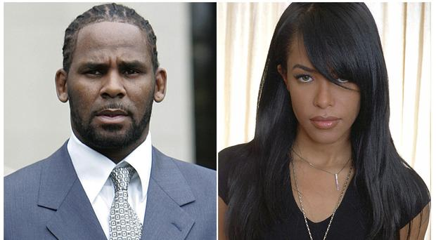 Singer R Kelly and the late RandB singer and actress Aaliyah (AP Photo/File)