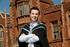Jakub Zaborski, who is originally from Poland, has graduated with a Bachelor of Laws from Queen's University Belfast.