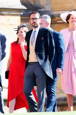 WINDSOR, ENGLAND - MAY 19:  Prince William's private secretary, Miguel Head arrives at the wedding of Prince Harry to Ms Meghan Markle at St George's Chapel, Windsor Castle on May 19, 2018 in Windsor, England.  (Photo by Chris Jackson/Getty Images)