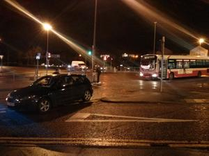 Three people injured after Translink Metro bus involved in crash with car in Belfast