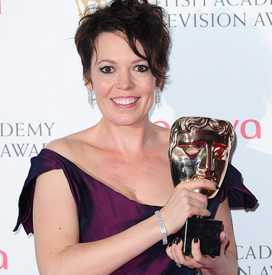 Olivia Colman with the Supporting Actress Award at the 2013 Arqiva British Academy Television Awards at the Royal Festival Hall, London. PRESS ASSOCIATION Photo. Picture date: Sunday May 12, 2013. See PA story SHOWBIZ Bafta. Photo credit should read: Ian West/PA Wire
