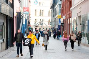 People in Belfast city centre