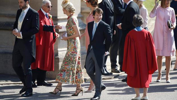 Prince's Harry's friend, British singer James Blunt (C) arrives for the wedding ceremony of Britain's Prince Harry, Duke of Sussex and US actress Meghan Markle at St George's Chapel, Windsor Castle, in Windsor, on May 19, 2018. / AFP PHOTO / POOL AND AFP PHOTO / Odd ANDERSENODD ANDERSEN/AFP/Getty Images