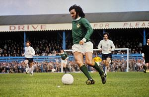 George Best in action for Northern Ireland