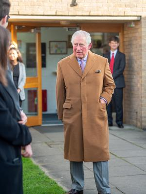 The Prince of Wales at the Whittle Laboratory (Joe Giddens/PA)