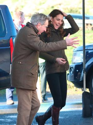 The Duchess of Cambridge arrives for a visit to The Ark Open Farm, at Newtonards, near Belfast, where she is meeting with parents and grandparents to discuss their experiences of raising young children for her Early Childhood survey. PA Photo. Picture date: Wednesday February 12, 2020. See PA story ROYAL Kate. Photo credit should read: Liam McBurney/PA Wire