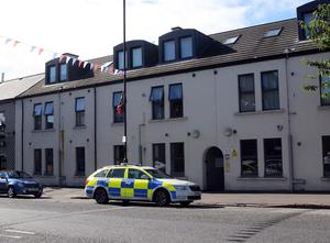 The scene in Newtownards after a man died from an incident at a house. Picture Freddie Parkinson Presseye