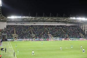 The rebuilt West Stand was officially opened when Northern Ireland faced San Marino in October 2016.