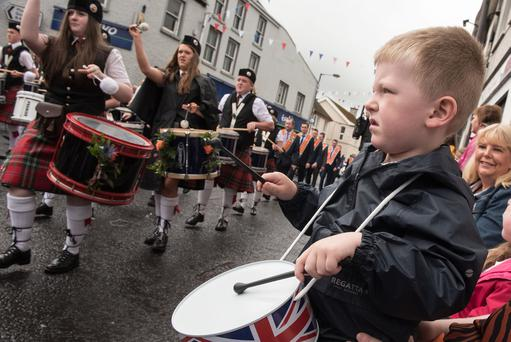 Three years old Laughlin Davis from Magheramason pictured in Donemana on the 12th of July 2019. Picture Martin McKeown. Inpresspics.com. 12.07.19