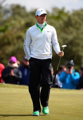 NEWCASTLE, NORTHERN IRELAND - MAY 29:  Rory McIlroy of Northern Ireland walks on the 9th green during the Second Round of the Dubai Duty Free Irish Open Hosted by the Rory Foundation at Royal County Down Golf Club on May 29, 2015 in Newcastle, Northern Ireland.  (Photo by Ross Kinnaird/Getty Images)
