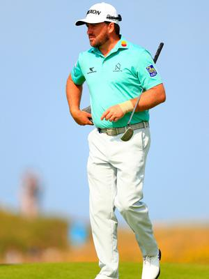 PORTRUSH, NORTHERN IRELAND - JULY 15: Graeme McDowell of Northern Ireland looks on during a practice round prior to the 148th Open Championship held on the Dunluce Links at Royal Portrush Golf Club on July 15, 2019 in Portrush, United Kingdom. (Photo by Mike Ehrmann/Getty Images)