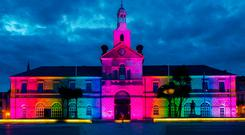Lightbulb moment: DUP councillor Tom Smith backed the proposal to light up Newtownards town hall