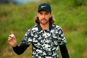 Tommy Fleetwood of England reacts on the 4th hole during the second round of the 148th Open Championship held on the Dunluce Links at Royal Portrush Golf Club on July 19, 2019 in Portrush, United Kingdom. (Photo by Andrew Redington/Getty Images)