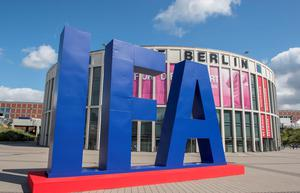 The logo of the IFA (Internationale Funkausstellung) electronics trade fair is seen in front of one of the fair's main entrances ahead of the opening of the 55th IFA, on September 02, 2015 in Berlin. IFA, one of the world's biggest consumer electronics shows, opens for the media before the public is invited from September 4 to 9.  AFP PHOTO / JOHN MACDOUGALLJOHN MACDOUGALL/AFP/Getty Images