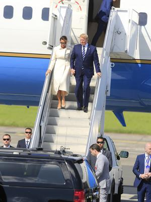 President Donald Trump and First Lady melania  touch down in Shannon Airport. Pictures by Gerry Mooney