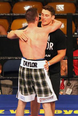 Press Eye - Belfast -  Northern Ireland - 18th July 2015 -  Josh Taylor v Archie Weah at the Don Haskins Centre, El Paso  Josh Taylor with Shane McGuigan  Picture by Jorge Salgado / Press Eye