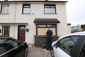 Scene at a house in Coleraine Co-Derry which was attacked during the night. Picture Margaret McLaughlin 16-6-2020