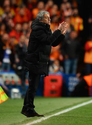 LONDON, ENGLAND - MARCH 18:  Jose Mourinho manager of Chelsea reacts during the UEFA Champions League Round of 16 second leg match between Chelsea and Galatasaray AS at Stamford Bridge on March 18, 2014 in London, England.  (Photo by Mike Hewitt/Getty Images)