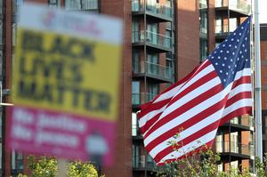 The London protest was held outside the US embassy (Yui Mok/PA)