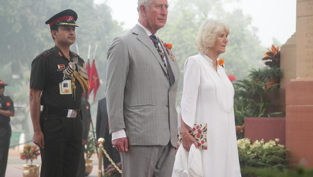 The Prince of Wales and Duchess of Cornwall during a 2017 visit to New Delhi (Yui Mok/PA)