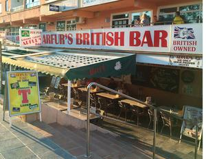 A bar on the Punta Ballena strip in Magaluf, Spain, which saw tough new rules cracking down on drunkenness come into force at midnight