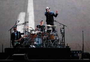 U2 performing on stage at Croke Park in Dublin. PRESS ASSOCIATION Photo. Picture date: Saturday July 22, 2017. Photo credit should read: Brian Lawless/PA Wire