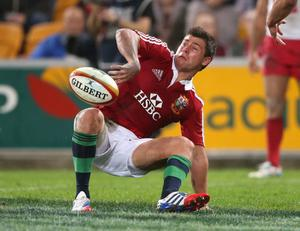 BRISBANE, AUSTRALIA - JUNE 08:  Ben Youngs of the Lions turns after scoring a try during the match between the Queensland Reds and the British & Irish Lions at Suncorp Stadium on June 8, 2013 in Brisbane, Australia.  (Photo by David Rogers/Getty Images)