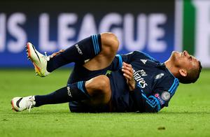 Real Madrid's Brazilian defender Danilo reacts during the UEFA Champions League quarter-final, first-leg football match between VfL Wolfsburg and Real Madrid on April 6, 2016 in Wolfsburg, northern Germany.  / AFP PHOTO / John MACDOUGALLJOHN MACDOUGALL/AFP/Getty Images