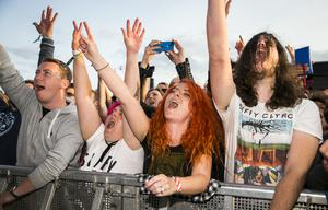 Fans at for the first night of Belfast Vital to see MUSE and Biffy Clyro. Wednesday 23rd August 2017. Picture by Liam McBurney/RAZORPIX