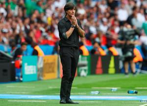 PARIS, FRANCE - JUNE 21:  Joachim Loew head coach of Germany gestures during the UEFA EURO 2016 Group C match between Northern Ireland and Germany at Parc des Princes on June 21, 2016 in Paris, France.  (Photo by Alexander Hassenstein/Getty Images)