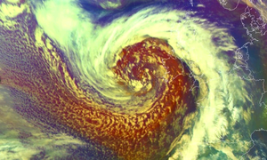The Atlantic weather system is seen in this satellite image from EUMETSAT