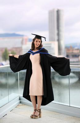 Graduating from Ulster University with a BA Hons degree ,Raychel Murphy, BA Hons Textiles Design & Fashion from Donegal. Pic By Paul Moane