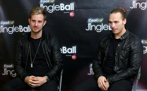 Sigma's Cameron Edwards and Joe Lenzie at Cool FM's Jingle Ball 2014 Picture Credit : Kevin Scott / Belfast Telegraph