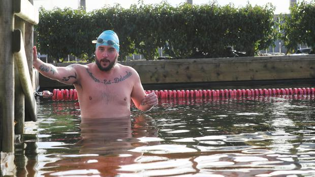 John Toner Wild Water Armagh open air swimming pool. (Photo by Colm O'Reilly, Sunday Life)