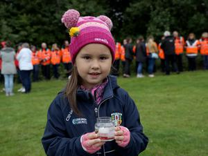 PACEMAKER PRESS BELFAST 28/6/2020 A vigil in Grove Park for Noah Donohue, who tragically lost his life after going missing last Sunday. At 6.11pm the family held a momentÕs silence and let of 14 balloons.  Pictured Kaea Kimitaunga. Photo Pacemaker Press