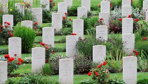 THIEPVAL, FRANCE - JULY 01:  War graves at Thiepval Memorial to the Missing of the Somme during Somme Centenary Commemorations on July 1, 2016 in Thiepval, France. Today marks exactly 100 years since the beginning of the battle of the Somme.  (Photo by Chris Jackson/Getty Images)