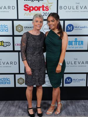Press Eye - Belfast - Northern Ireland - 20th January  2020   Brenda and Angela Loughran pictured at the 2019 Belfast Telegraph Sport Awards at the Crowne Plaza Hotel in Belfast.  Photo by Kelvin Boyes / Press Eye.