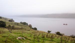 Killary Harbour forms a natural border between counties Galway and Mayo