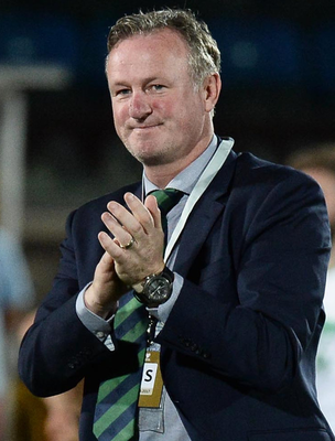 Proud: Michael O'Neill hailed his players' application last night