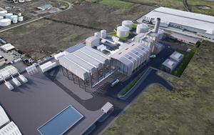 An artist's impression of power station at Belfast Harbour
