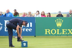 Press Eye - Belfast - Northern Ireland - 5th July 2017   Padraig Harrington tees off in the Dubai Duty Free Irish Open Hosted by the Rory Foundation Invitational Pro-Am at Portstewart Golf Club, Co.Derry / Co. Londonderry, Northern Ireland.  Picture by Matt Mackey / presseye.com