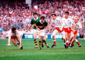Declan's dad Harry in action in the 1986 showpiece against Kerry