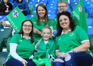 Pacemaker Belfast 24-3-18 Northern Ireland v South Korea - International Friendly Northern Ireland supporters before today's game at the National Stadium, Belfast.  Photo by David Maginnis/Pacemaker Press