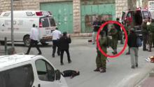 Still from the graphic video shows an Israeli soldier preparing to shoot the injured Palestinian man. Israeli newspaper Haaretz reports, the video was recorded just after another soldier was stabbed and moderately wounded at a checkpoint in the Tel Rumeida area of Hebrons Old City