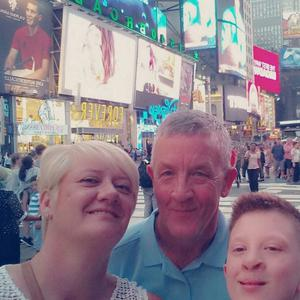 Ryan Wallace on holiday with his mum and dad