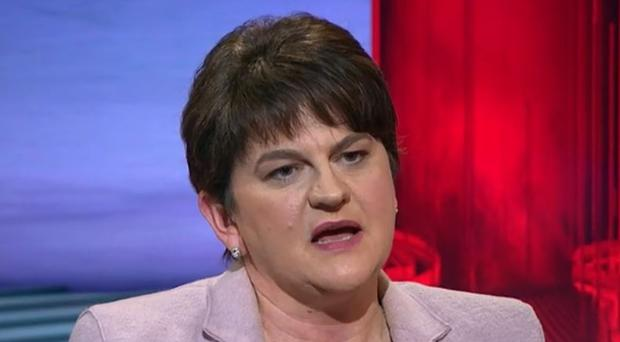 DUP leader Arlene Foster said the decision was made due to budgetary constraints. Credit: BBC