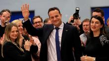 Fine Gael leader Leo Varadkar celebrates with his sister Sonia (R) after being elected on February 9, 2020 in Dublin, Ireland. (Photo by Donall Farmer/Getty Images)